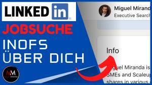 LinkedIn Infos über Dich |LinkedIn Jobsuche